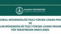 Samsun Üniversitesi Yazılım Mühendisliği ve Biyomedikal Mühendisliği Tezli Yüksek Lisans Programları Açıldı